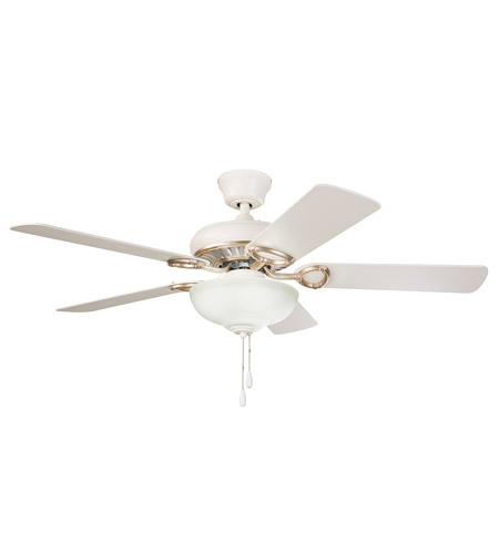 Kichler Sutter Place Select 3 Light Ceiling Fan In Satin Natural White With Gold 339211swg