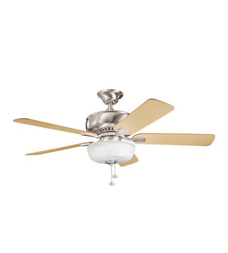 Kichler Lighting Saxon Select 1 Light Fan in Brushed Stainless Steel 339212BSS photo