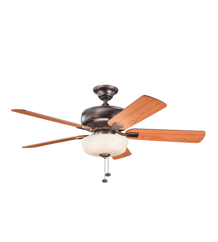 Kichler Lighting Saxon Select 1 Light Fan in Oil Brushed Bronze 339212OBB