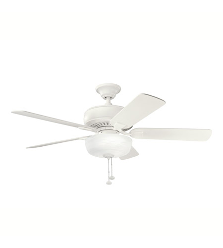 Kichler Lighting Saxon Select Fan in Satin Natural White 339212SNW