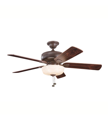 Kichler Lighting Saxon Select 1 Light Fan in Tannery Bronze 339212TZ photo