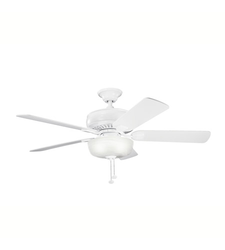Kichler Lighting Saxon Select 1 Light Fan in White 339212WH photo
