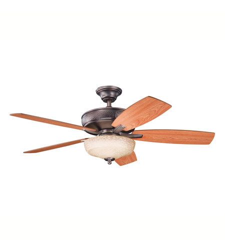 Kichler 339213OBB Monarch II Select Oil Brushed Bronze with Walnut Ms-97503 Blades Fan photo