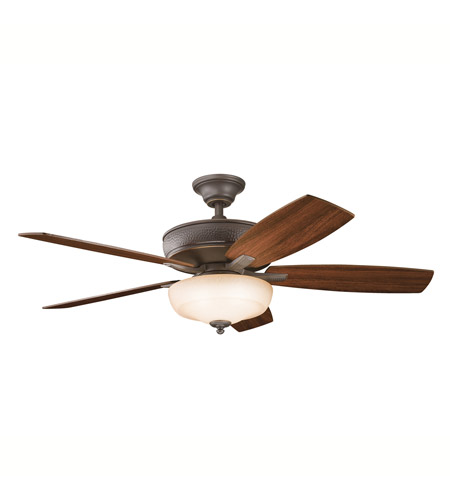 Kichler 339213OZ Monarch II Select Olde Bronze with Walnut/Light Cherry Blades Fan photo