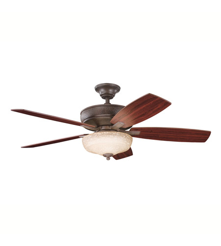 Kichler Lighting Monarch II Select 1 Light Fan in Tannery Bronze 339213TZ photo