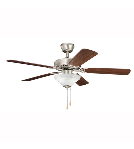 Kichler Lighting Builder Sterling Manor Select 2 Light Fan in Brushed Nickel 339220NI7
