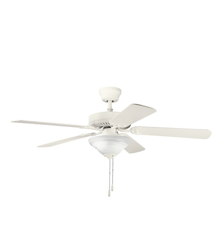 Kichler Lighting Sterling Manor Select 2 Light Fan in Satin Natural White 339220SNW