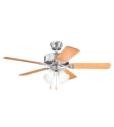 Kichler Renew Premier 4 Light Fan in Brushed Stainless Steel 339240BSS