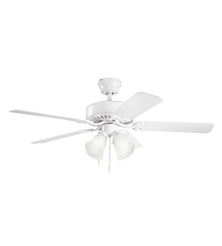 Kichler 339240WH Renew Premier 50 inch White Fan in Satin Etched Glass photo