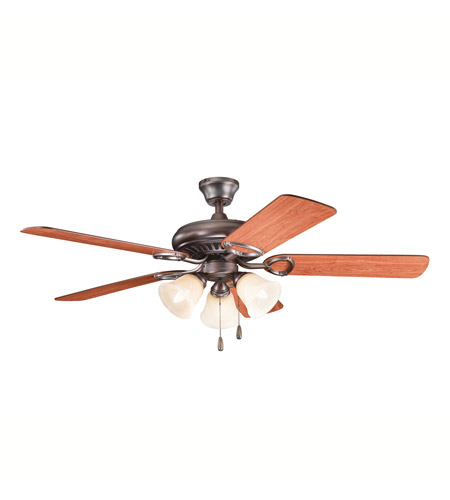 Kichler 339400OBB Sutter Place Premier Oil Brushed Bronze with Walnut Ms97503 Blades Fan  photo
