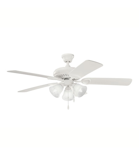 Kichler Lighting Sutter Place Premier 3 Light Fan in Satin Natural White 339400SNW photo