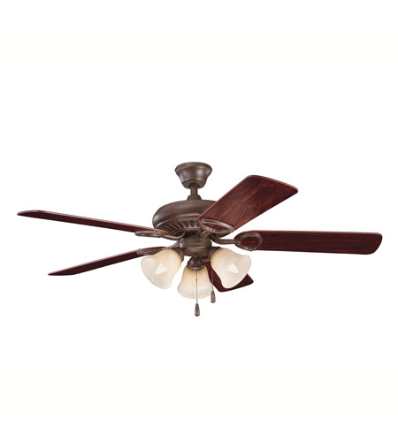 Kichler Lighting Sutter Place Premier 3 Light Fan in Tannery Bronze 339400TZ photo