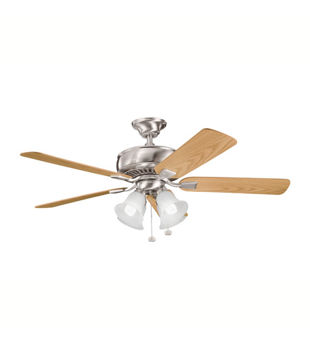 Kichler Lighting Saxon Premier 4 Light Fan in Brushed Stainless Steel 339401BSS photo