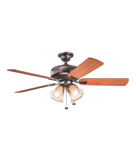 Kichler Lighting Saxon Premier 4 Light Fan in Oil Brushed Bronze 339401OBB photo