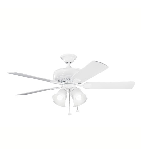 Kichler Lighting Saxon Premier 4 Light Fan in White 339401WH photo