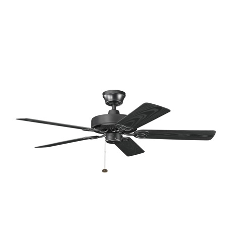 Kichler Lighting Sterling Manor Patio Fan in Satin Black 339520SBK