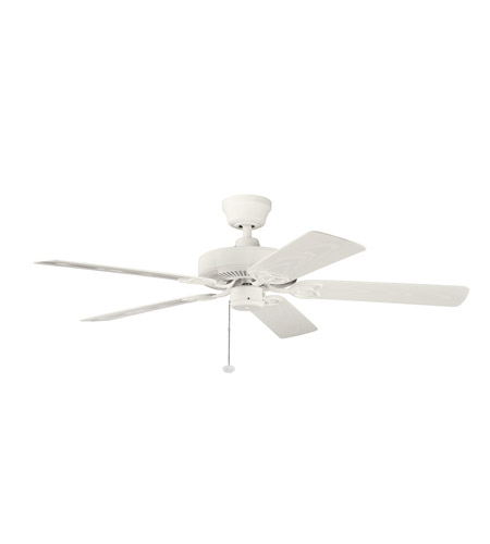 Kichler Lighting Sterling Manor Patio Fan in Satin Natural White 339520SNW