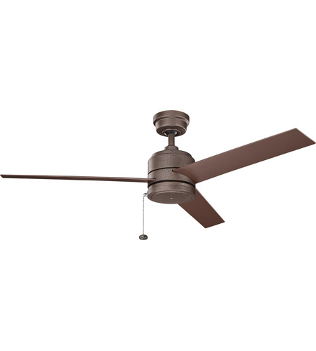 Kichler 339629WCP Arkwet 52 inch Weathered Copper Powder Coat with Brown Blades Ceiling Fan photo