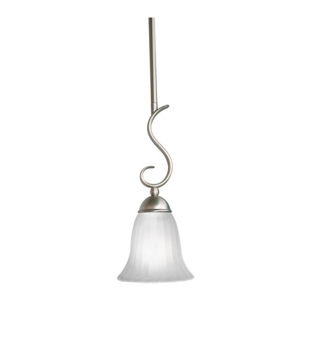 Kichler Lighting Willowmore 1 Light Mini Pendant in Brushed Nickel 3427NI