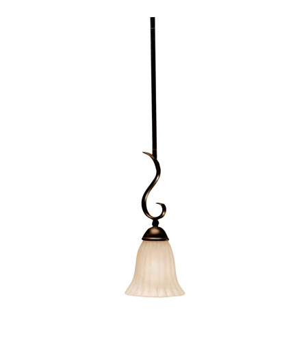 Kichler Lighting Willowmore 1 Light Mini Pendant in Tannery Bronze 3427TZ