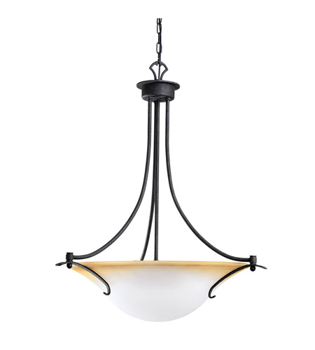 Kichler Lighting Pomeroy 3 Light Inverted Pendant in Distressed Black 3431DBK photo