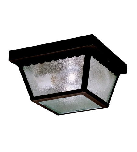 Kichler 345BK Signature 2 Light 9 inch Black Outdoor Flush Mount photo
