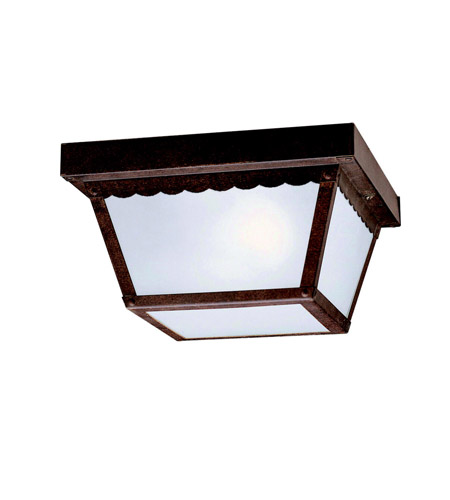 Kichler Lighting Signature 2 Light Outdoor Flush Mount in Tannery Bronze 345TZ photo
