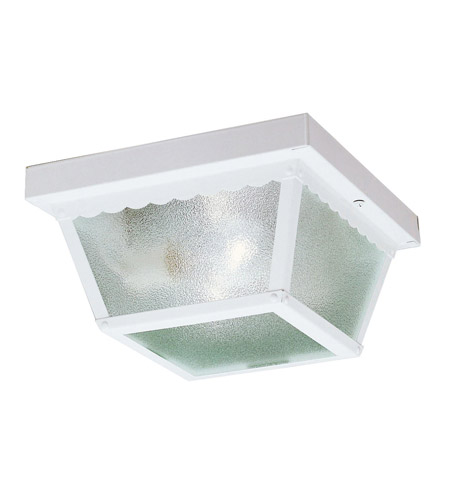 Kichler Lighting Signature 2 Light Outdoor Flush Mount in White 345WH