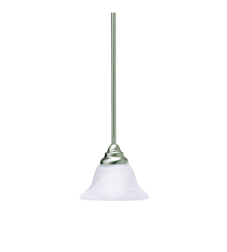 Kichler 3476NI Telford 1 Light 8 inch Brushed Nickel Mini Pendant Ceiling Light photo