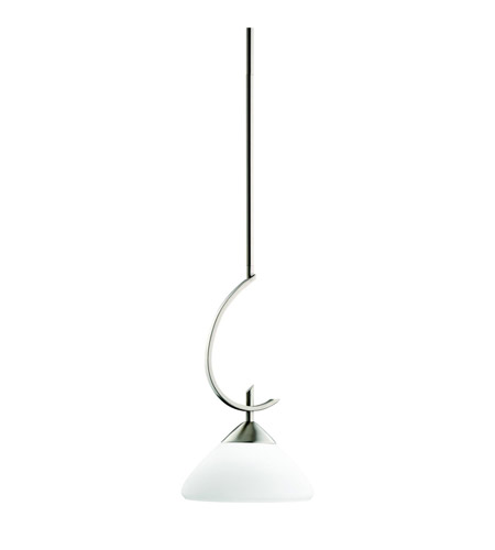 Kichler 3478AP Olympia 1 Light 8 inch Antique Pewter Mini Pendant Ceiling Light in Satin Etched Glass photo
