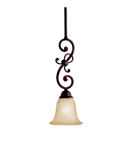 Kichler Lighting Wilton 1 Light Mini Pendant in Carre Bronze 3489CZ photo
