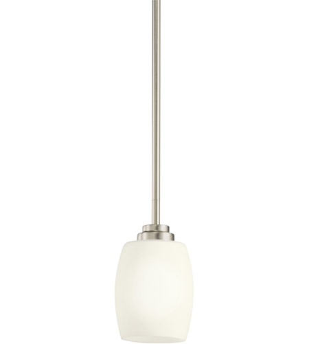 Kichler 3497ni eileen 1 light 5 inch brushed nickel mini pendant kichler 3497ni eileen 1 light 5 inch brushed nickel mini pendant ceiling light in standard aloadofball Images