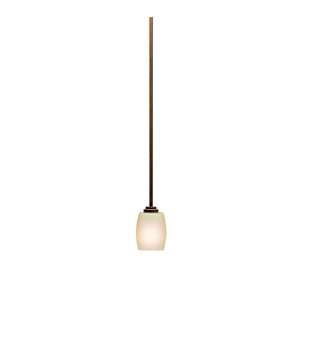 Kichler 3497OZ Eileen 1 Light 5 inch Olde Bronze Mini Pendant Ceiling Light in Umber Etched Glass, Standard photo