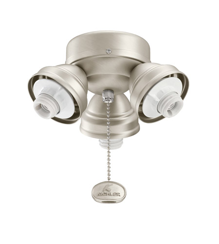 Kichler Lighting 3 Light Turtle Fitter Fan Fitter in Brushed Nickel 350010NI photo
