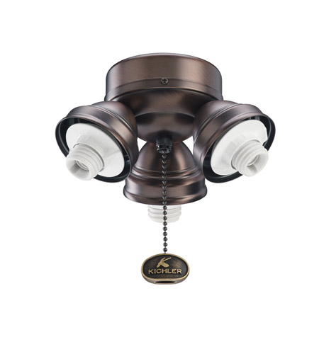 Kichler Lighting 3 Light Turtle Fitter Fan Fitter in Oil Brushed Bronze 350010OBB