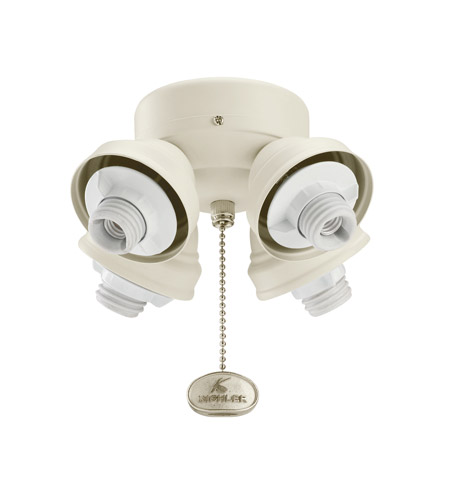 Kichler Lighting 4 Light Turtle Fitter Fan Fitter in Adobe Cream 350011ADC