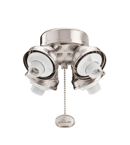 Kichler Lighting 4 Light Turtle Fitter Fan Fitter in Brushed Stainless Steel 350011BSS
