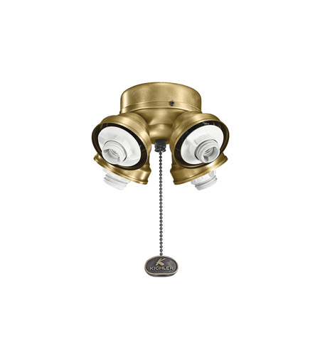 Kichler 350011NBR Accessory 4 Light Natural Brass Fan Fitter photo