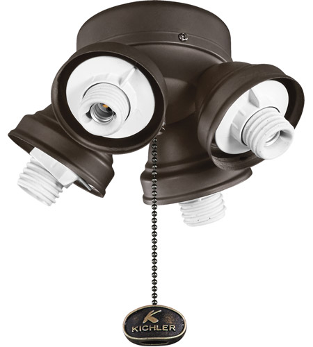 Kichler Turtle Fitter 4 Light Fan Fitter in Satin Natural Bronze 350011SNB photo