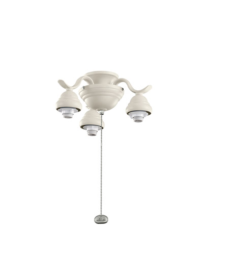 Kichler Lighting 3 Arm Decorative Fitter Fan Fitter in Adobe Cream 350101ADC
