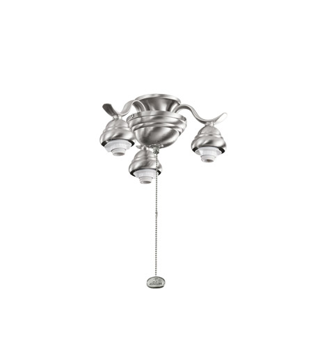 Kichler Lighting 3 Arm Decorative Fitter Fan Fitter in Brushed Stainless Steel 350101BSS