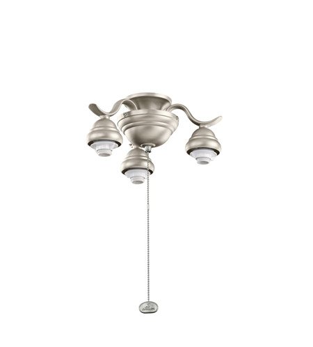 Kichler Lighting 3 Arm Decorative Fitter Fan Fitter in Brushed Nickel 350101NI
