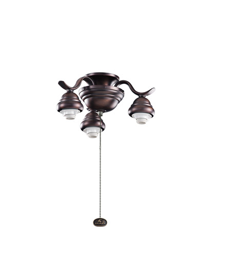 Kichler Lighting 3 Arm Decorative Fitter Fan Fitter in Oil Brushed Bronze 350101OBB