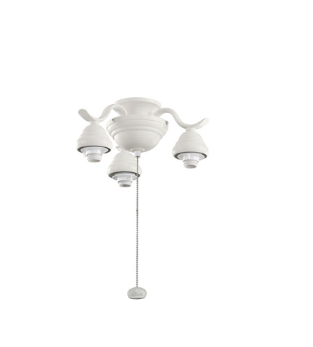 Kichler Lighting 3 Arm Decorative Fitter Fan Fitter in Satin Natural White 350101SNW