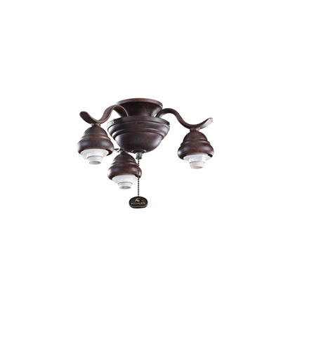 Kichler Lighting 3 Arm Decorative Fitter Fan Fitter in Tannery Bronze 350101TZ