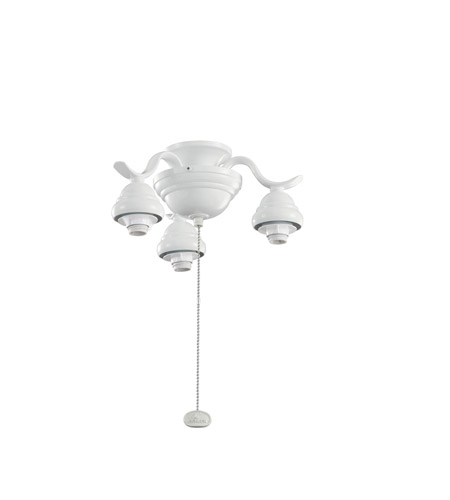 Kichler Lighting 3 Arm Decorative Fitter Fan Fitter in White 350101WH