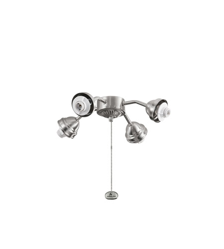 Kichler Lighting 4 Light Bent Arm Fitter Fan Fitter in Brushed Stainless Steel 350102BSS photo