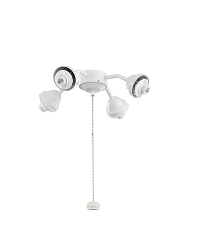 Kichler Lighting 4 Light Bent Arm Fitter Fan Fitter in White 350102WH photo