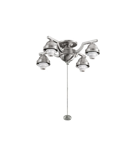 Kichler Lighting 4 Arm Decorative Fitter Fan Fitter in Brushed Stainless Steel 350104BSS
