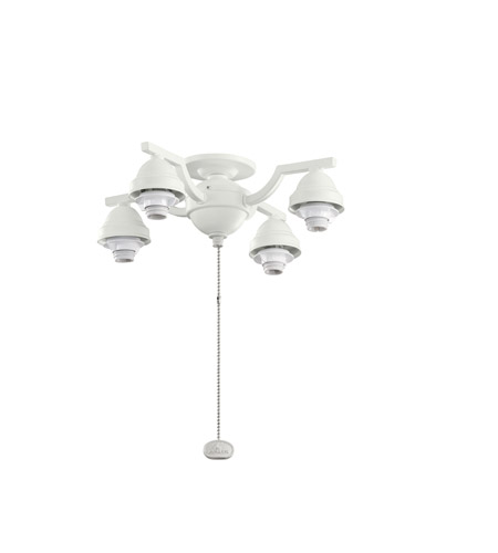 Kichler Lighting 4 Arm Decorative Fitter Fan Fitter in Satin Natural White 350104SNW photo